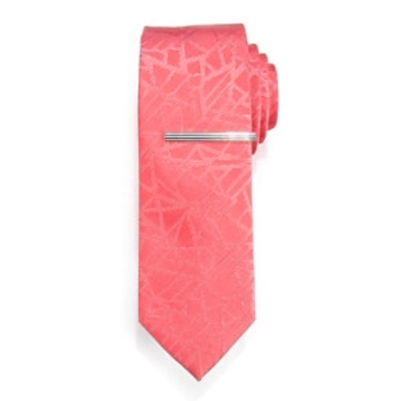 Other - Tie and bar set coral